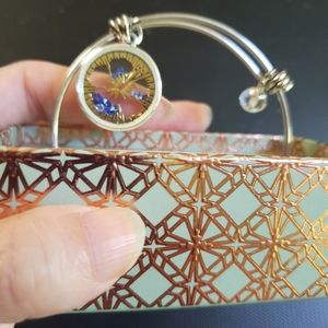 Disney ohana means family silver tone bracelet